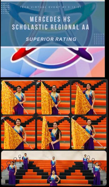 The Mercedes Winter Guard Earned a Superior Rating. Featured Photo