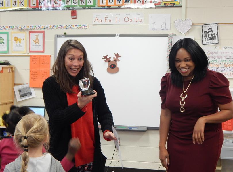 Congratulations to Ms.Oast, she is the Fox 8/North Carolina Education Lottery Winner for the week.  Her video will be aired the week of 12/30/19.  We are all so proud of her and her accomplishments.