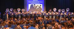 The Fightin' Brewer Band performed during White Settlement ISD's 2018 Convocation on  Aug. 17.