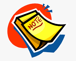 Note yellow post it with red background clip art