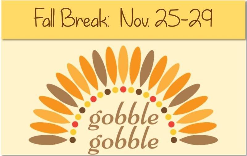 fall break dates for jisd