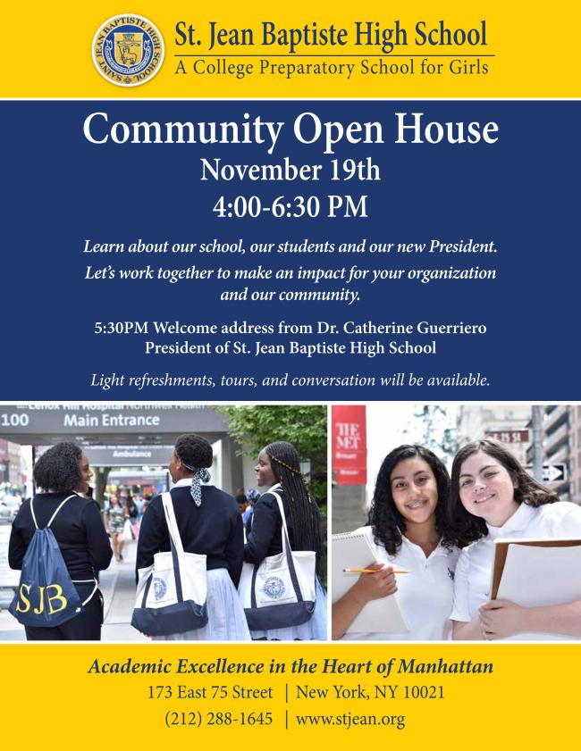 community open house flyer