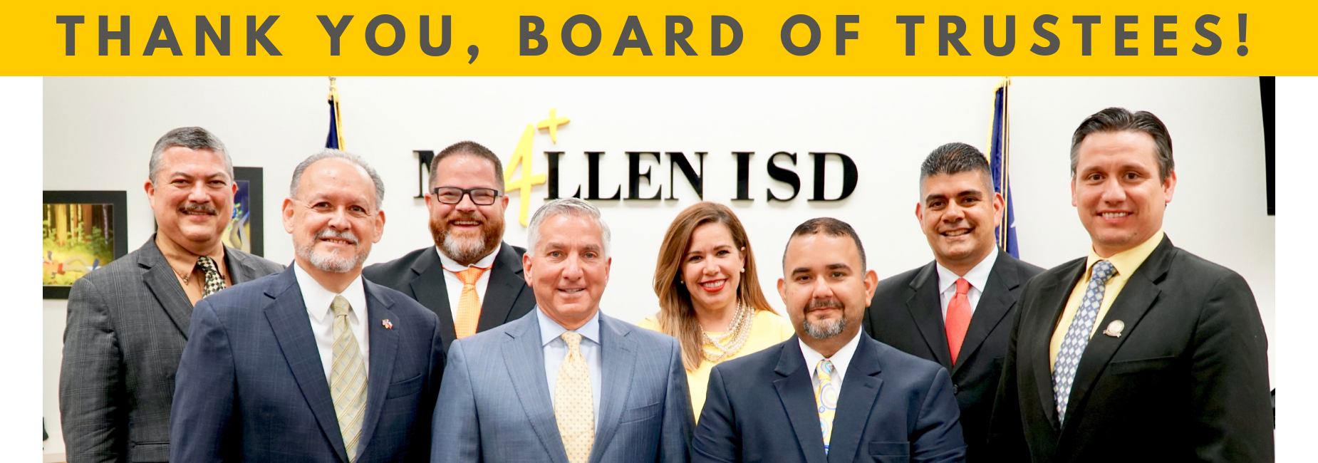 Thank you, Board of Trustees!