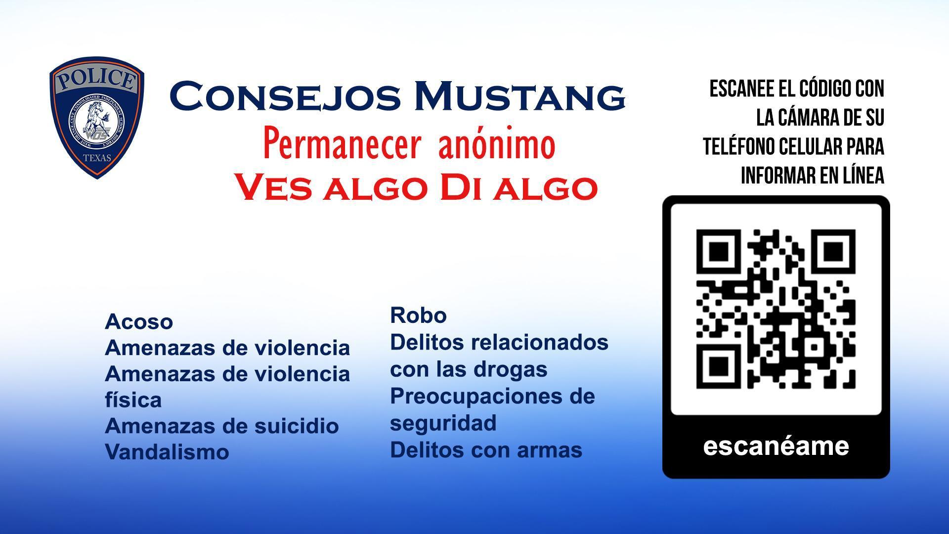 mustang tips spanish