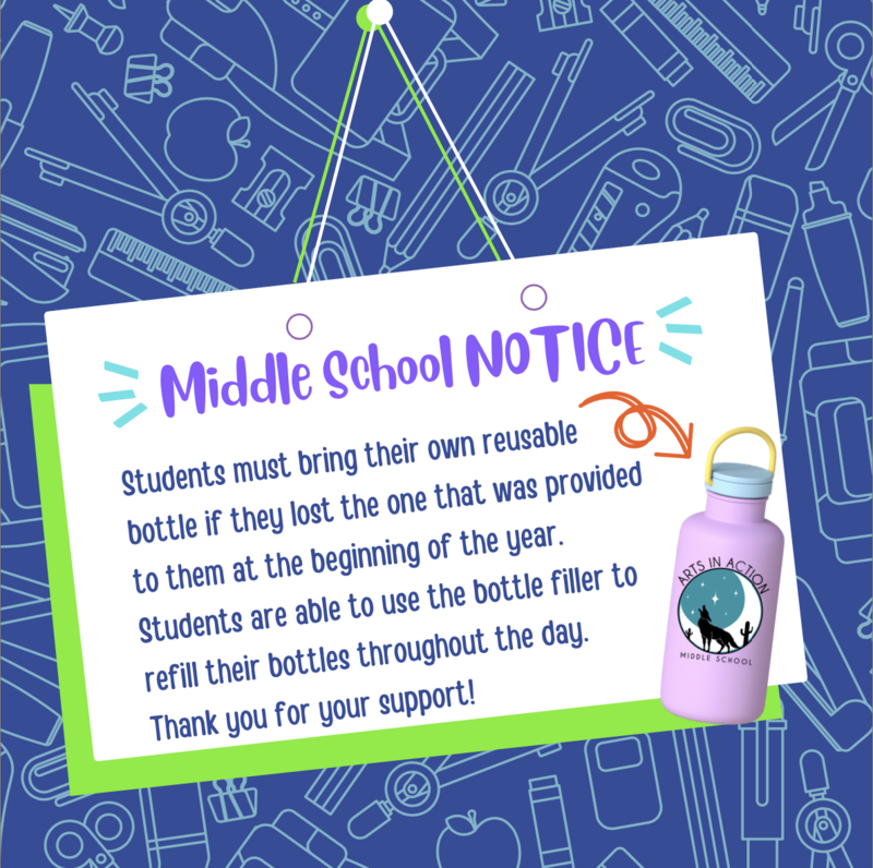 Middle School Water Bottle Notice Featured Photo