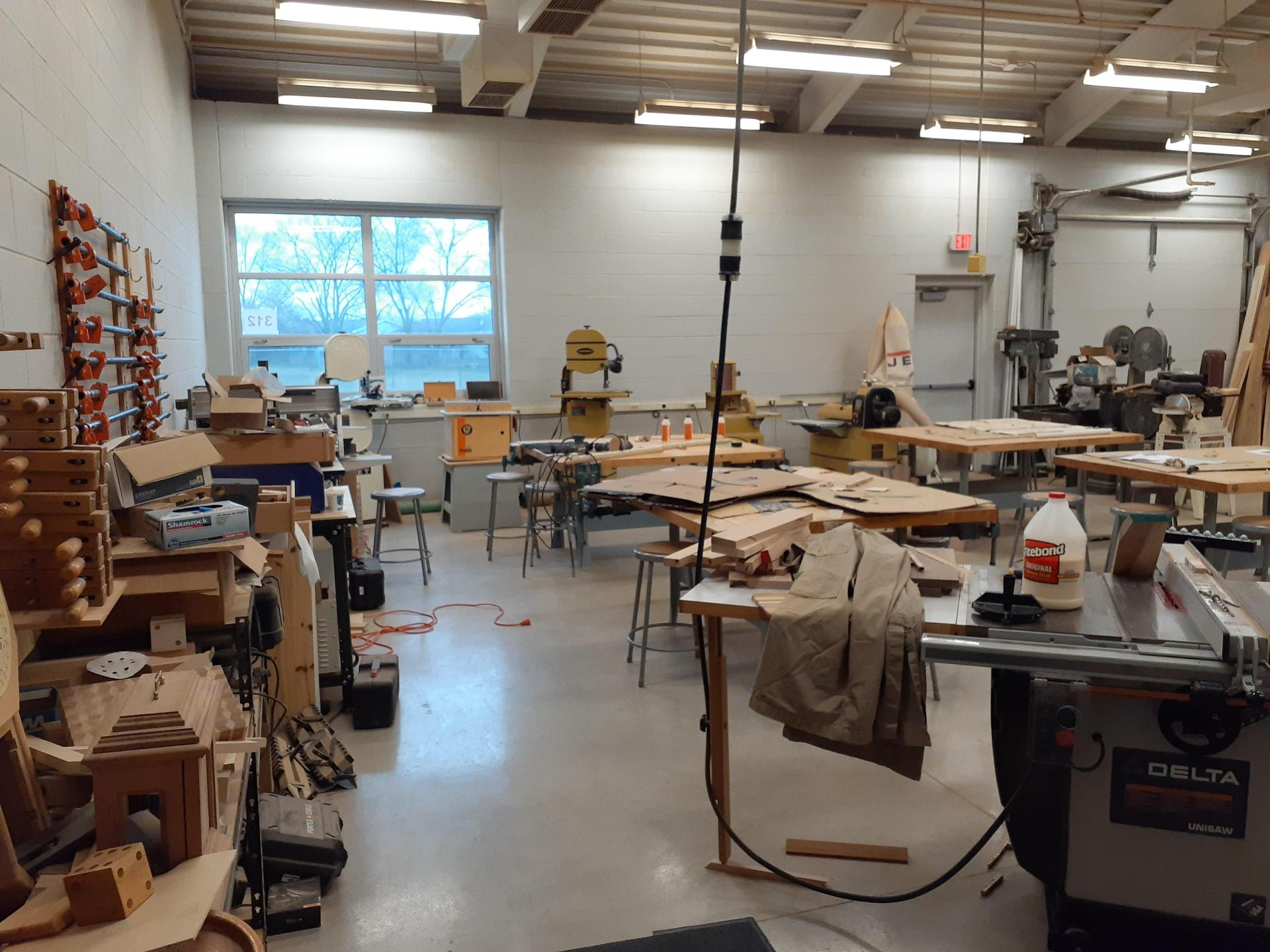 Left side of woodshop