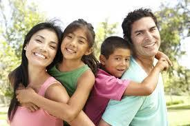 Hispanic parents with young children