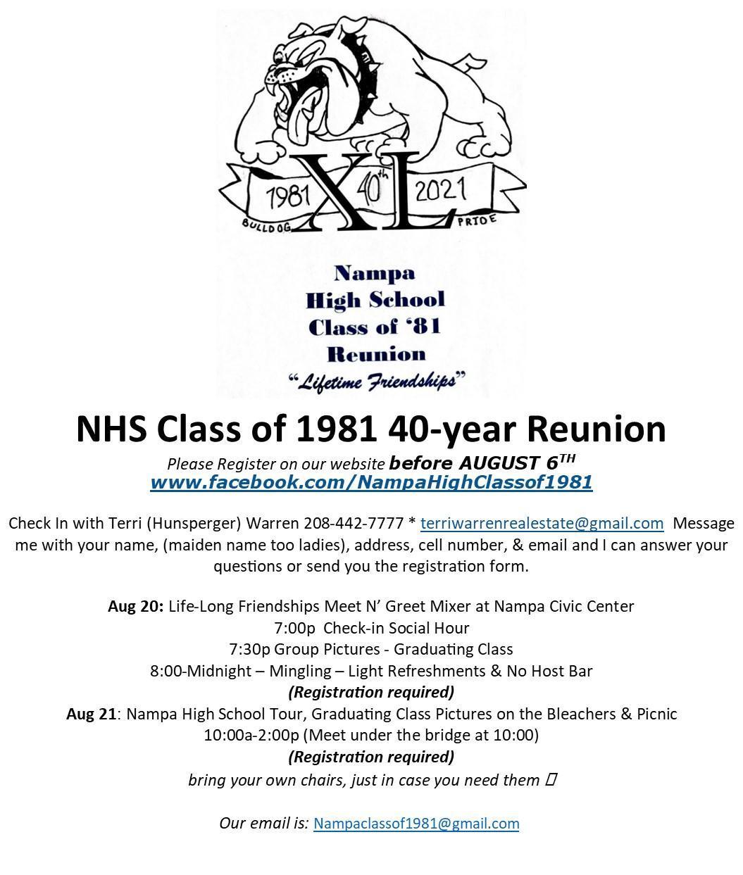Reunion Info
