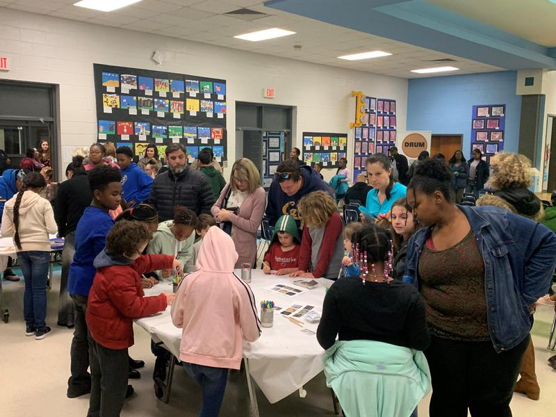 Families at Fine Arts Night
