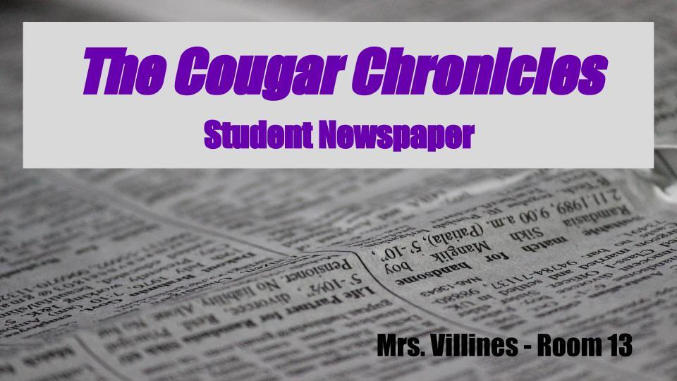 Cougar Chronicles