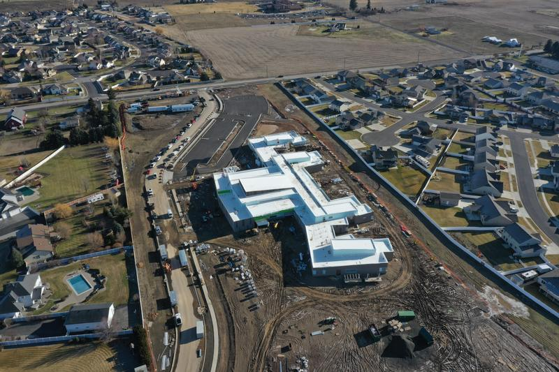 Drone view of Skyline Elementary