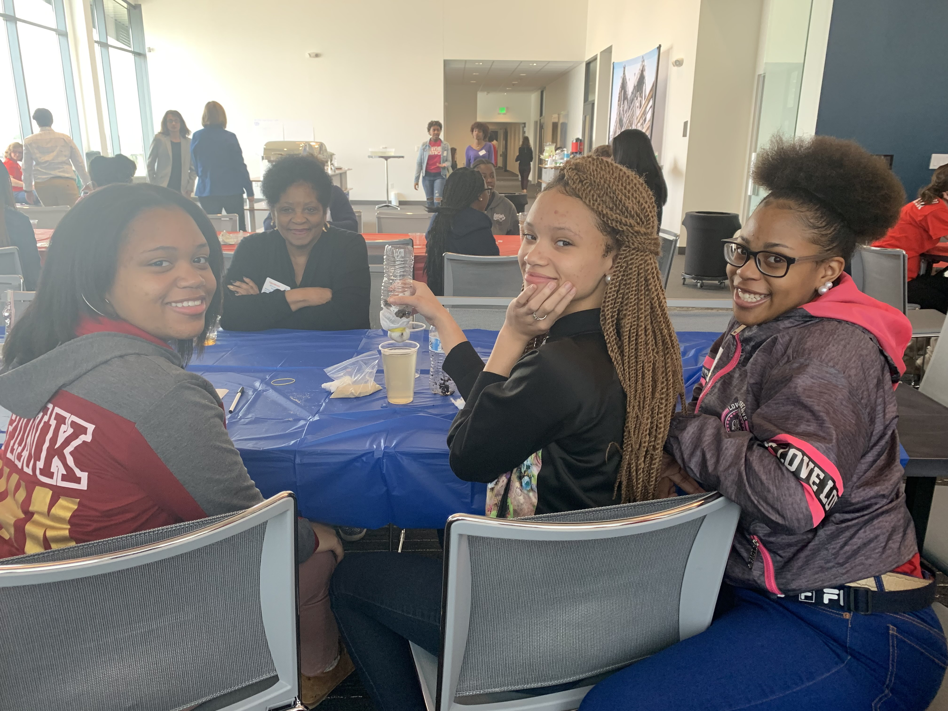 a photo from Baker Middle School field trip to Introduce girls to Engineering day event