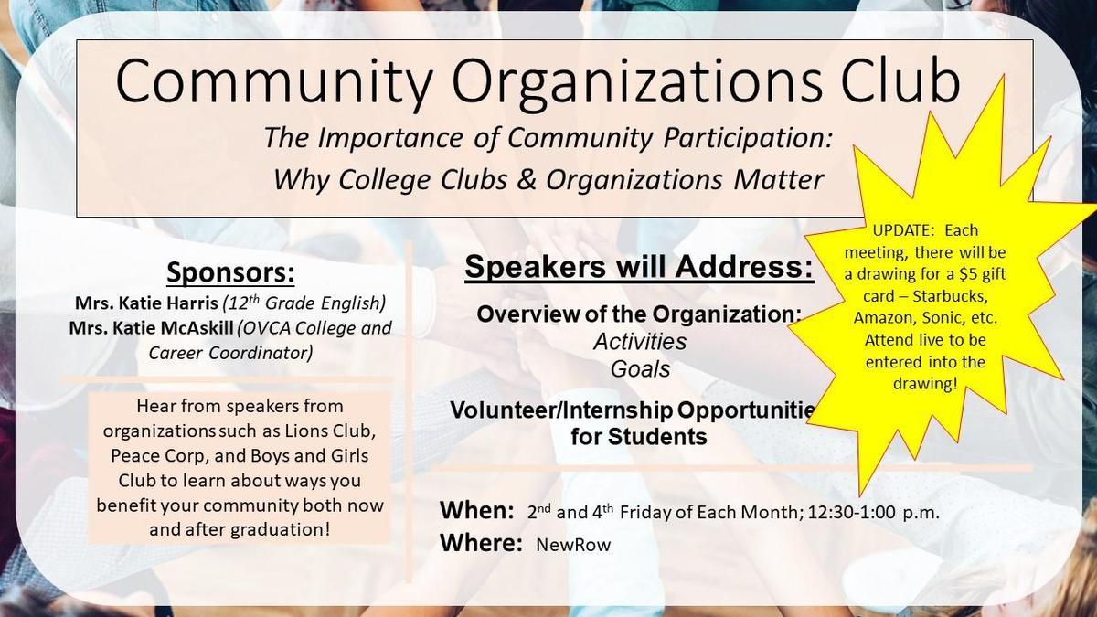 graphic - community organizations club
