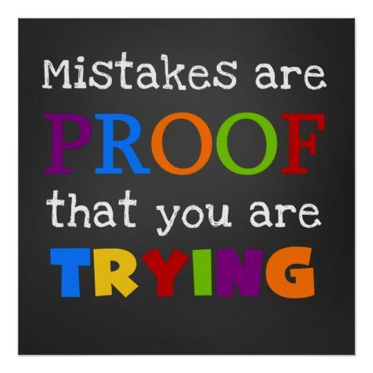 Clipart about mistakes are proof your trying