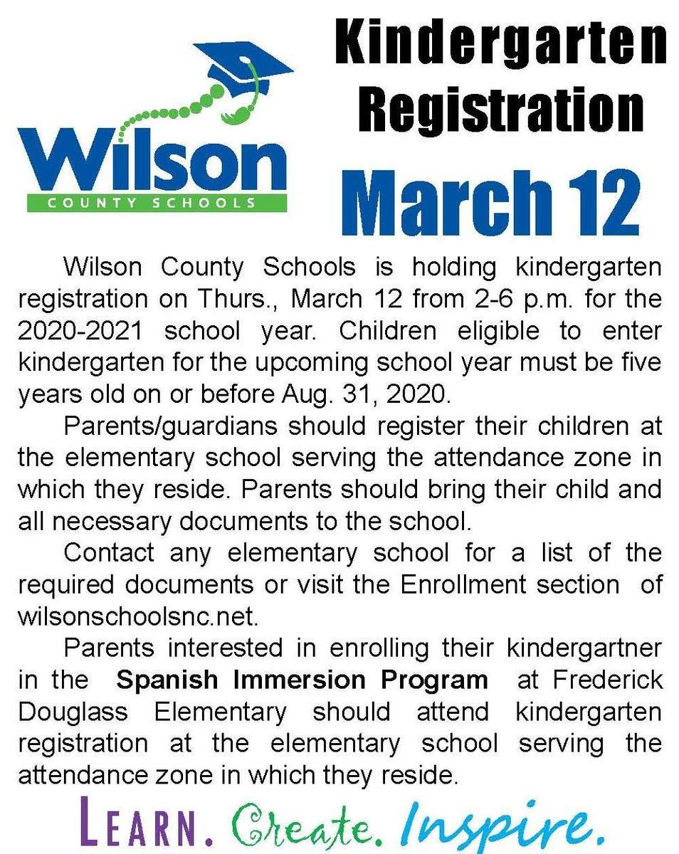 kindergarten registration details