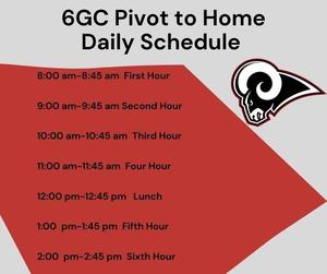Pivot to Home Schedule