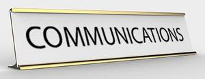 Communications Name Plate