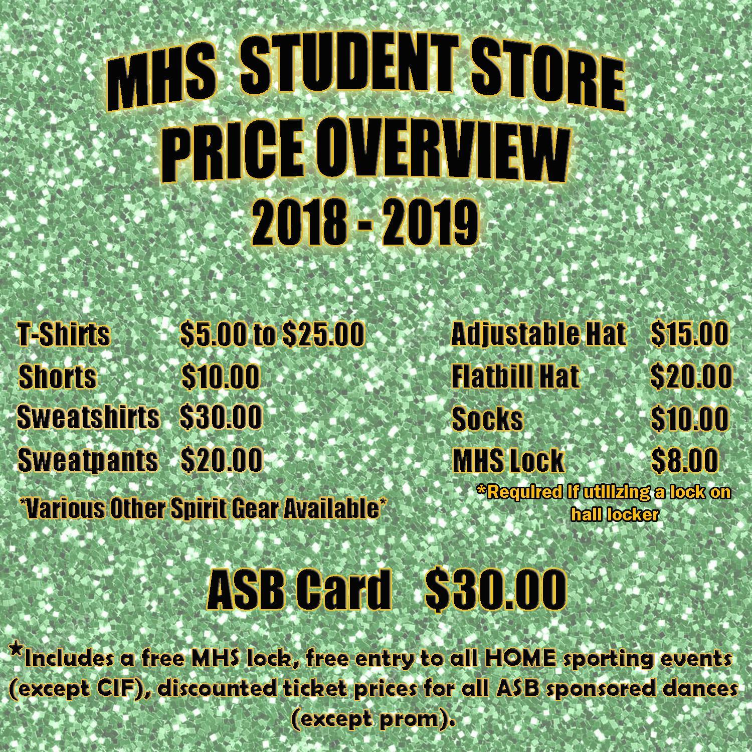 Student Store Prices