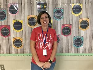 Mrs. Cleveland - Westview Teacher of the Month for August