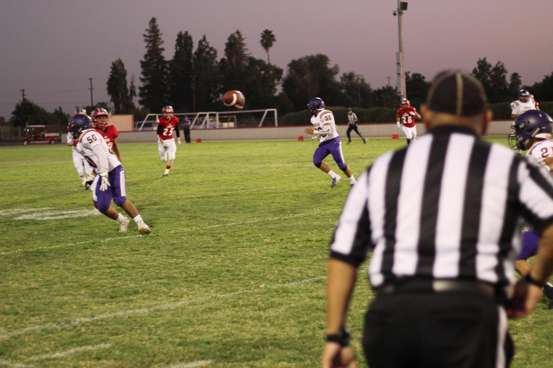 Varsity players against Lemoore