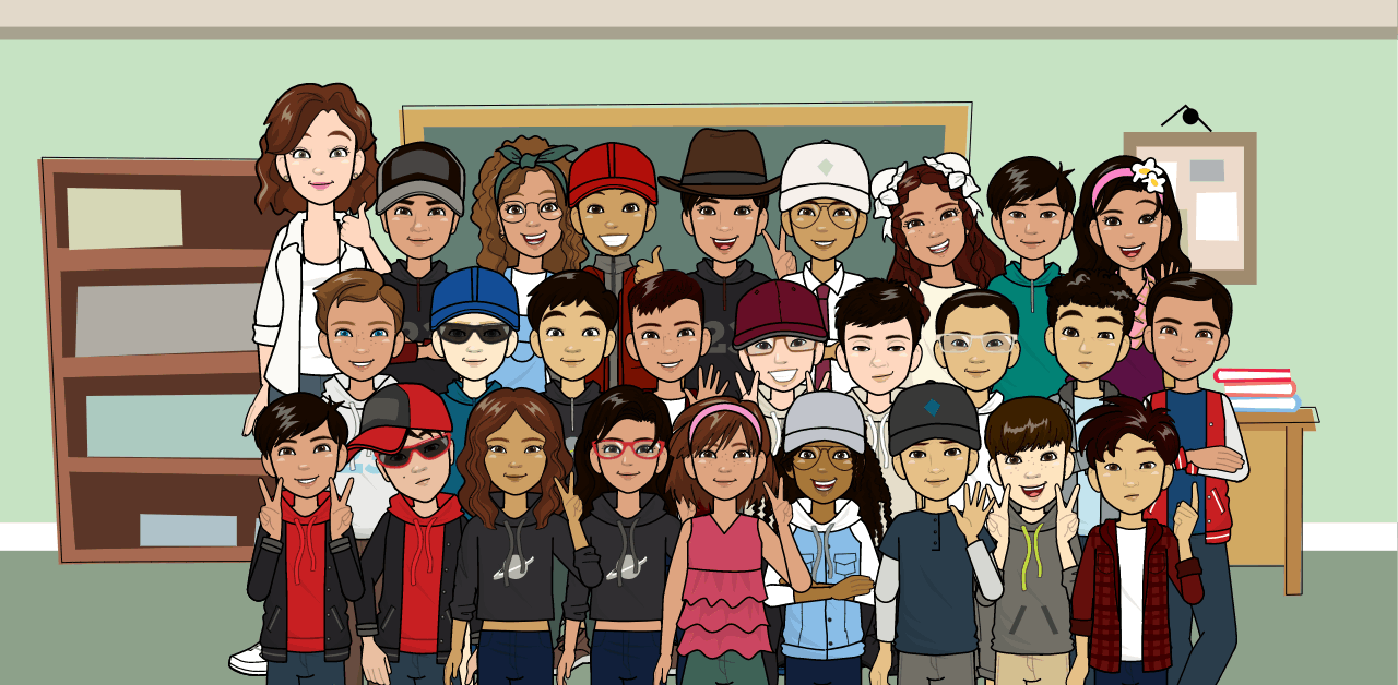 This shows an avatar photo of our 5th grade class.