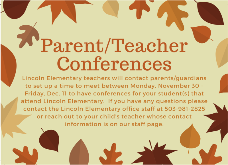 Lincoln Elementary Parent/Teacher Conferences Featured Photo