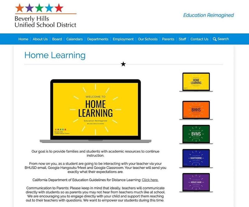 Home Learning Starts Tuesday March 24th Featured Photo