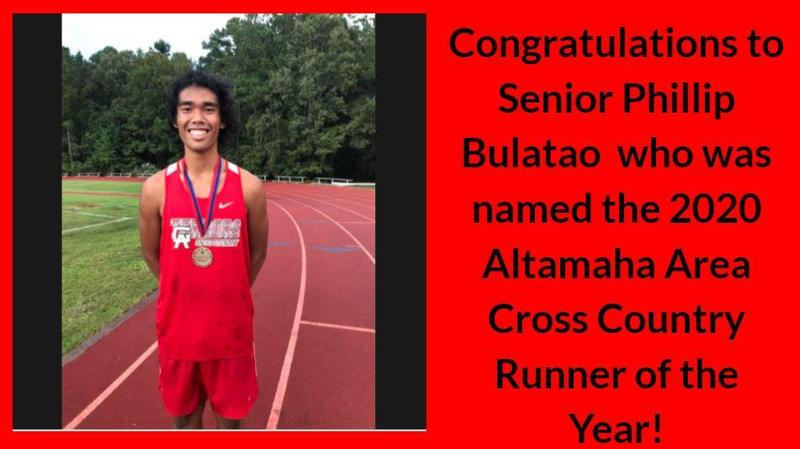 Phillip Bulatao Named 2020 Altamaha Area Cross Country Runner of the Year! Featured Photo
