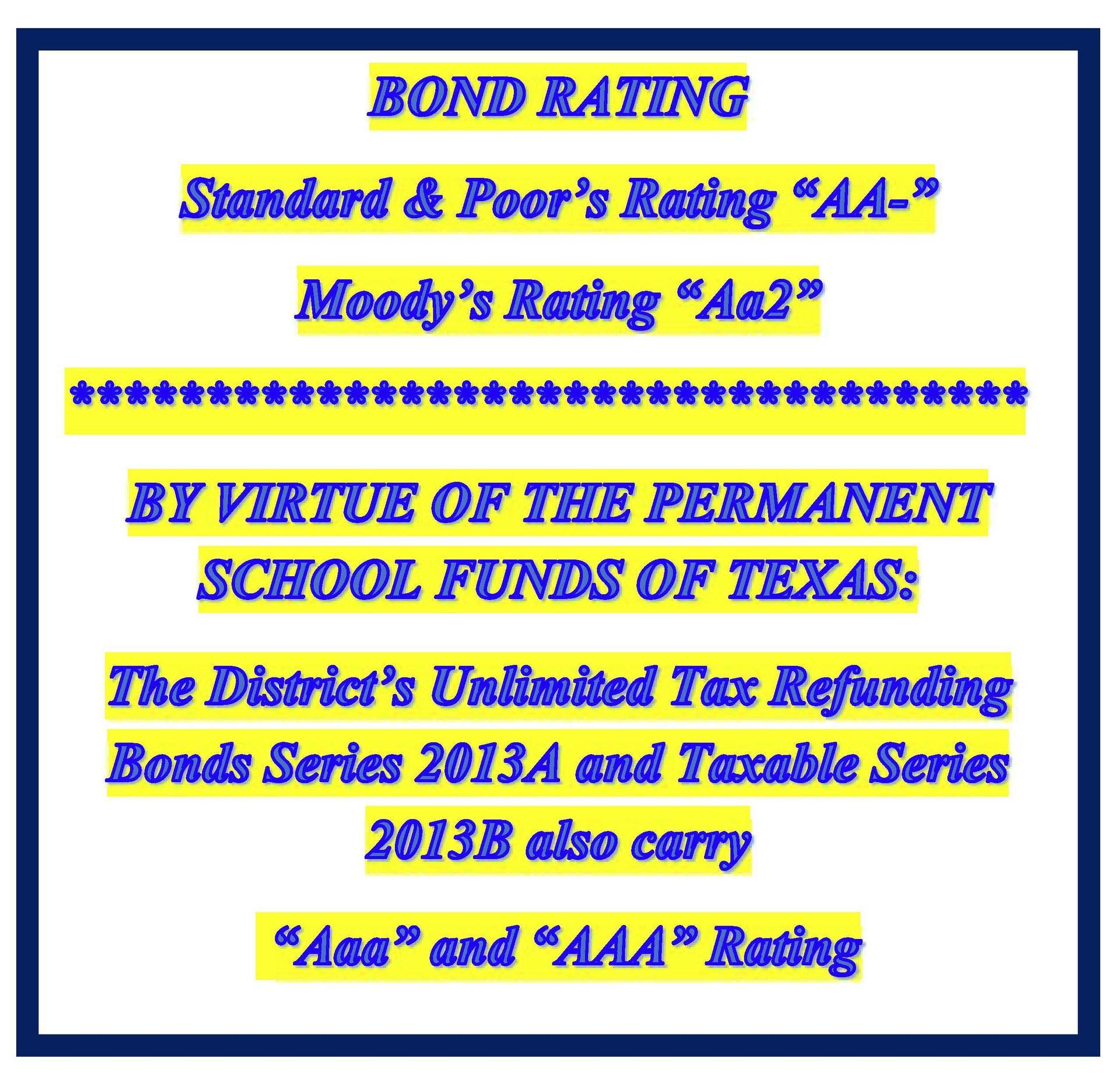 Bond Rating 5-14-19