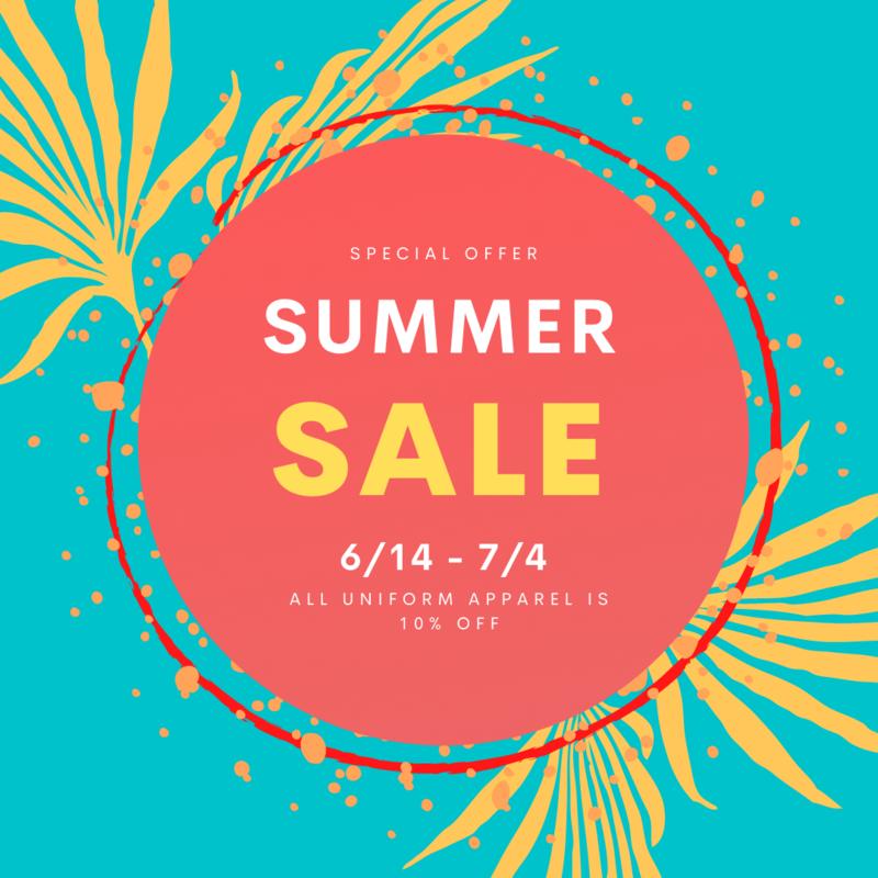 Summer Uniform Sale! Featured Photo