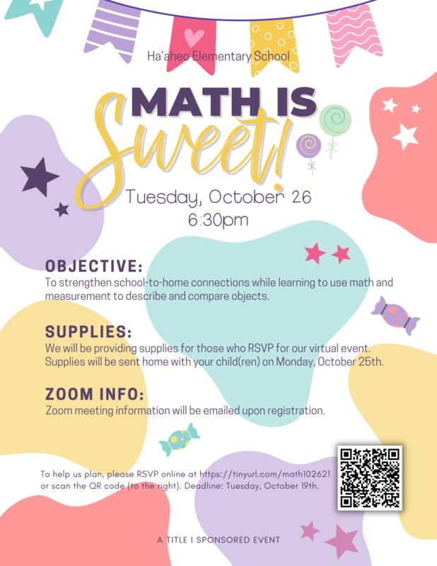 10/26/21: Virtual ʻOhana Math Night Featured Photo