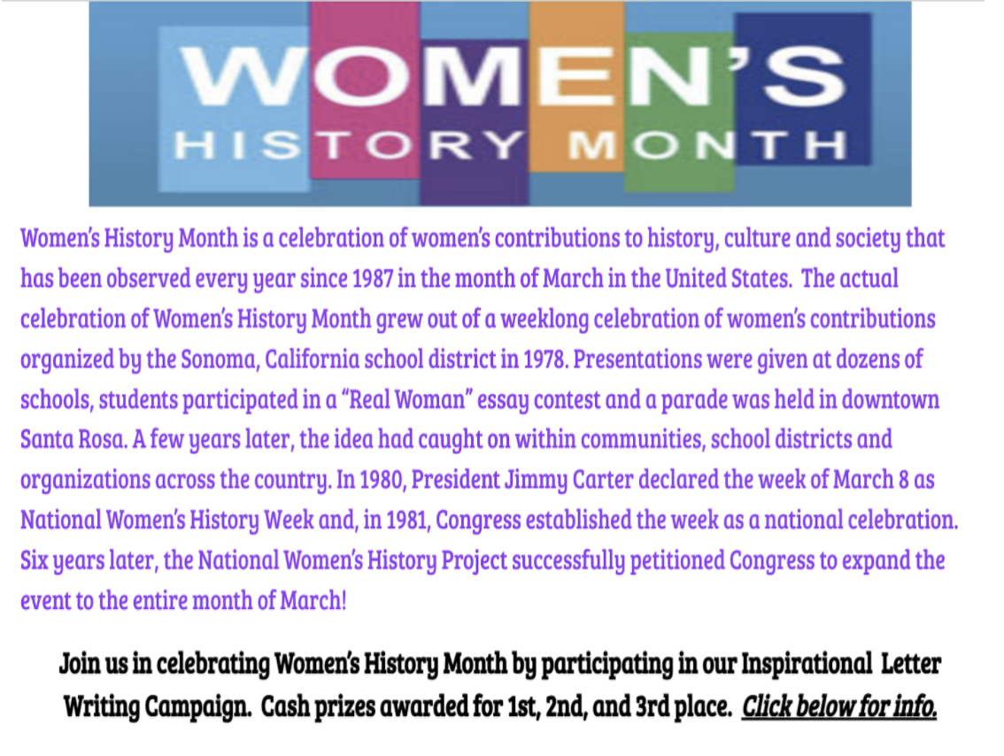Women's History Month Posting