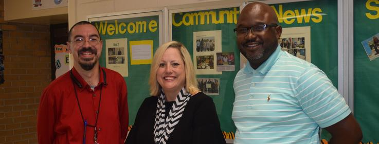 Dr. Aimee Brown, Bureau Director for Career and Technical Education for the MS Department of Education, visited the McComb Business & Technology Complex.
