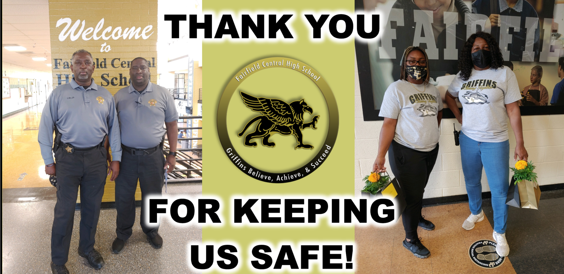 Thank you for keeping us safe!