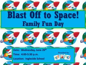 Blast off to space family day