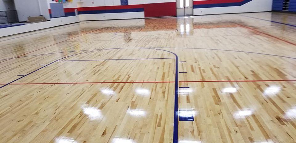 ES Gym Floor Finished