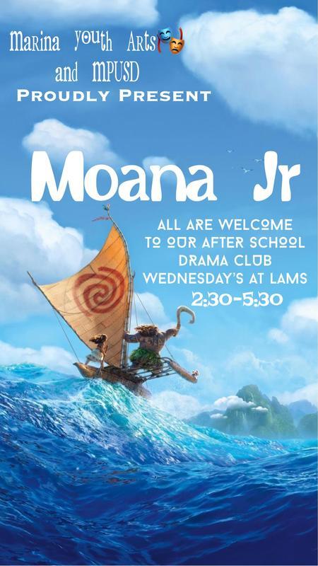 LAMS Drama Club Proudly Present: Moana Jr! Featured Photo