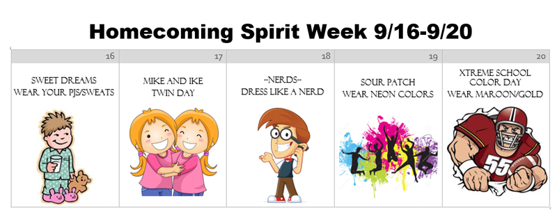 Homecoming Spirit Week (9/16-9/20) Featured Photo