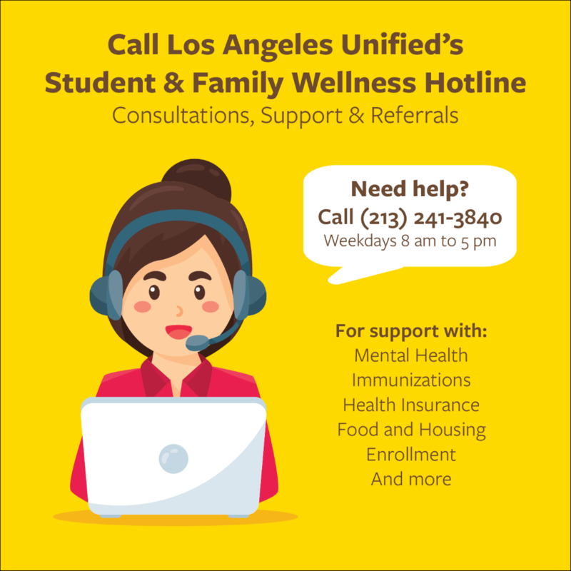 LAUSD's Student and Family Wellness Hotline Featured Photo