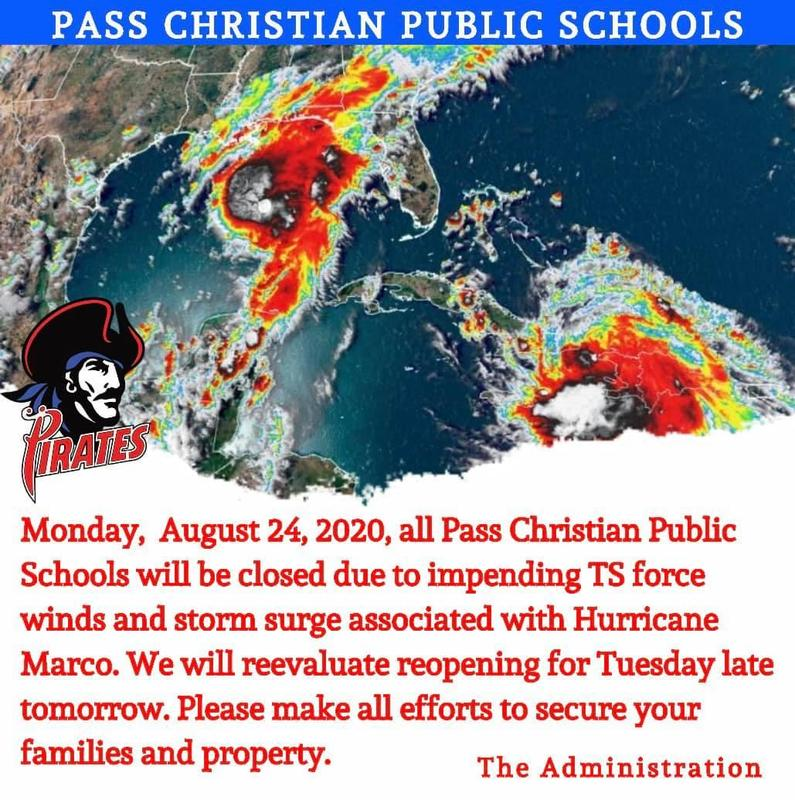 Schools closed Monday August 24th