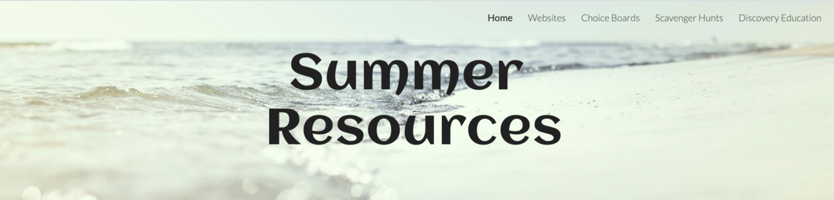 Summer Learning Resources Website