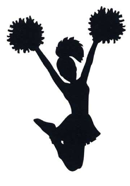 clipart silhouette of cheerleader