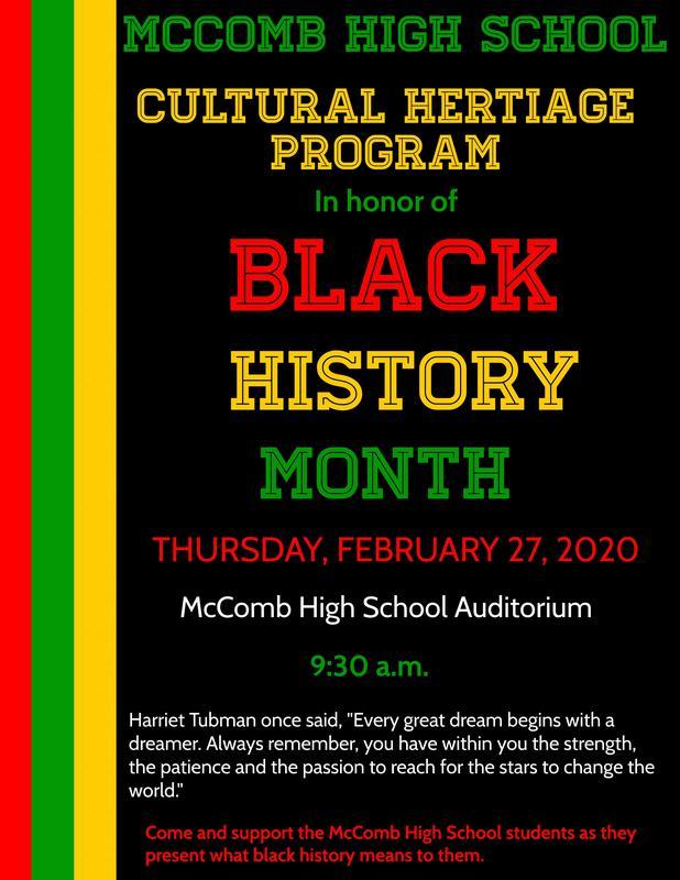 McComb High School Celebrates Black History 2020  #ItsComeBackTime