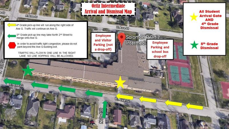 Ortiz Arrival and Dismissal Map Featured Photo