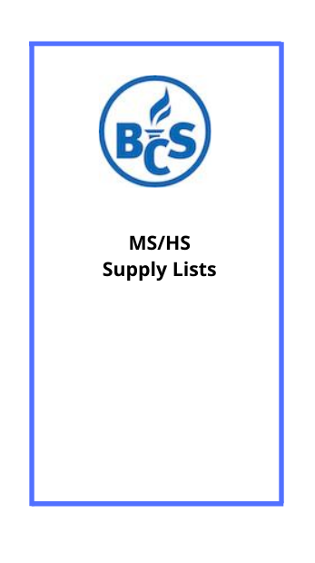 MS HS Supply Lists