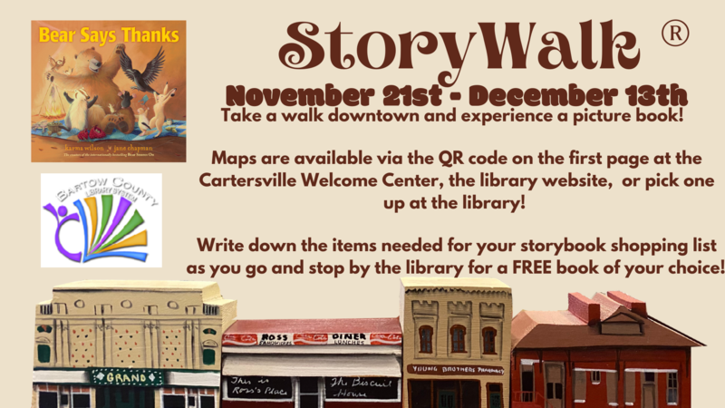 StoryWalk, hosted by Bartow County Public Library Featured Photo
