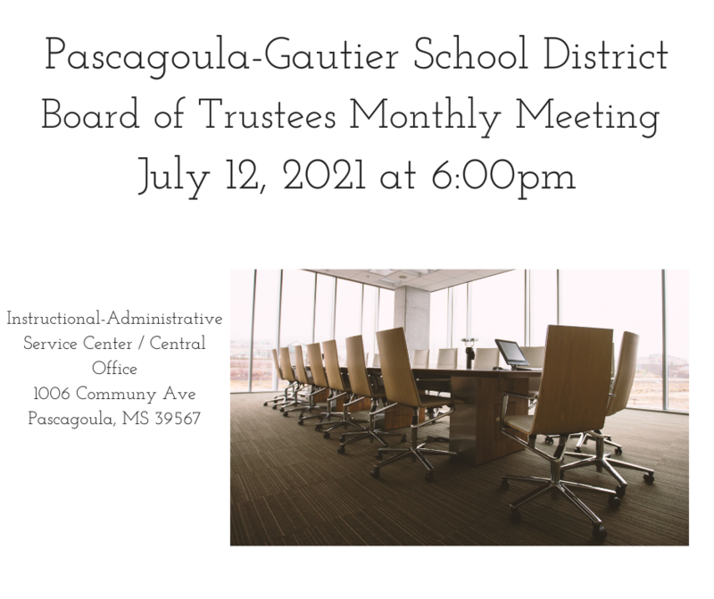 PGSD Monthly Board Meeting