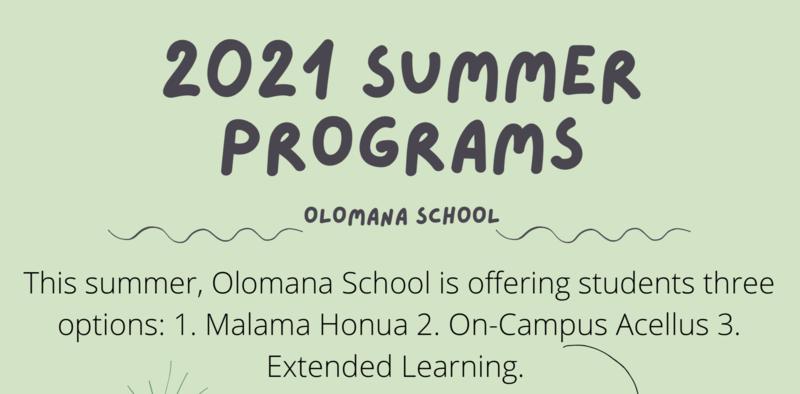 Summer Program Offerings