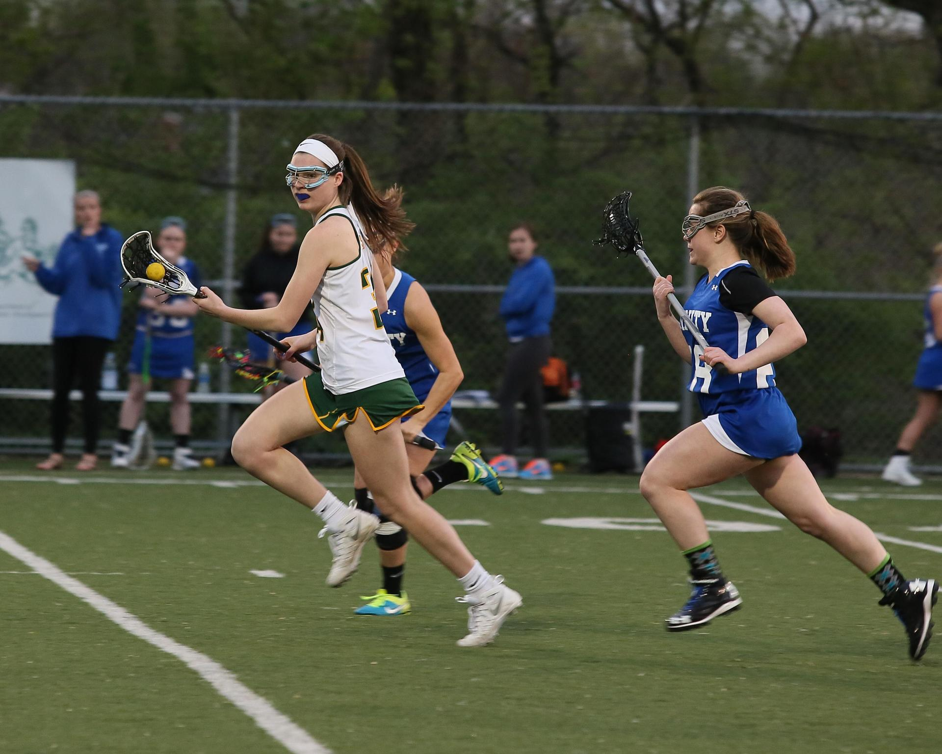 Girls Lacrosse action shot