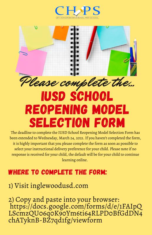 IUSD SCHOOL MODEL